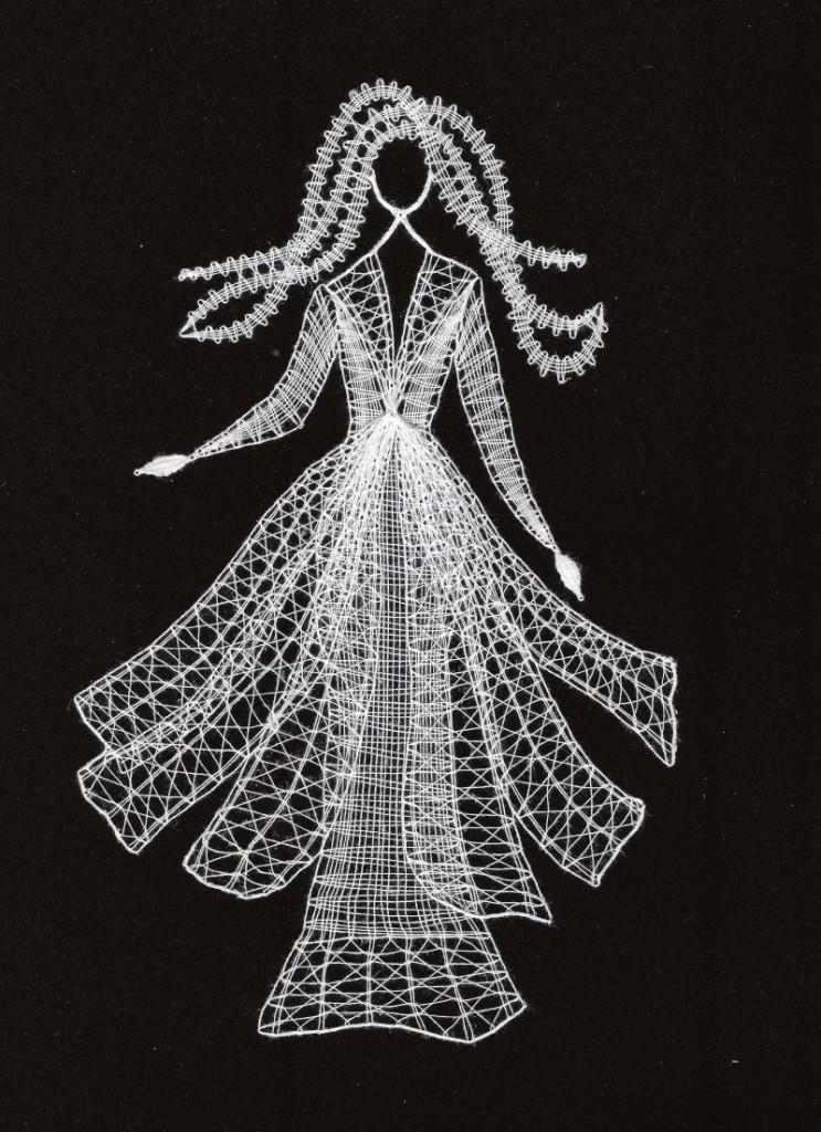 Šaty(11 cm x  20 cm)