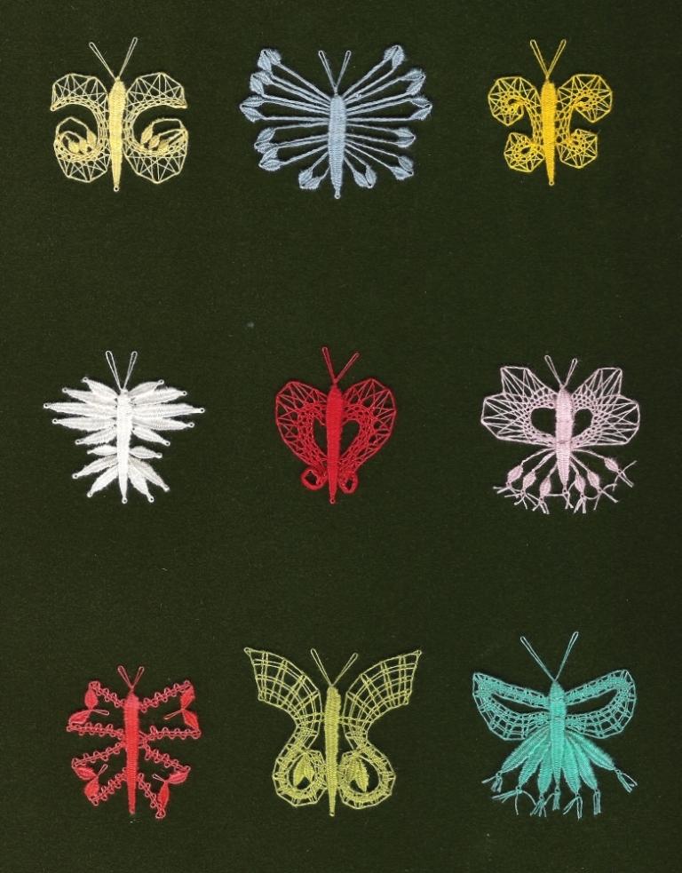 Motýli (14 cm x  13 cm)